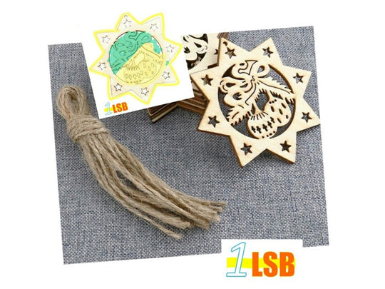 Just Arrived! PANC04 Christmas Bell Wooden Craft Set of 2