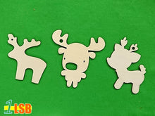 "Load image into Gallery viewer, SWSK02 ""Love Christmas"" Wooden Craft Template Set of 12"