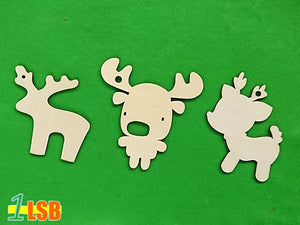 "SWSK02 ""Love Christmas"" Wooden Craft Template Set of 12"