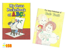 "Load image into Gallery viewer, PABC40 ""My Jesus Pocket Book"" Mini Booklets Set of 2"