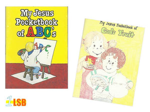 "PABC40 ""My Jesus Pocket Book"" Mini Booklets Set of 2"