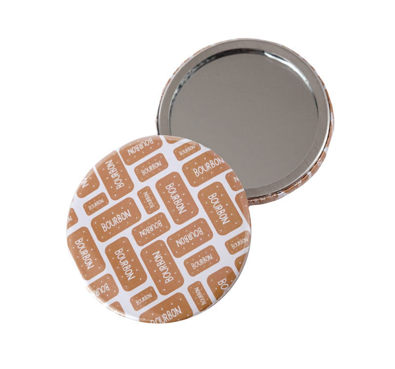Bourbon Biscuit Pocket Mirror
