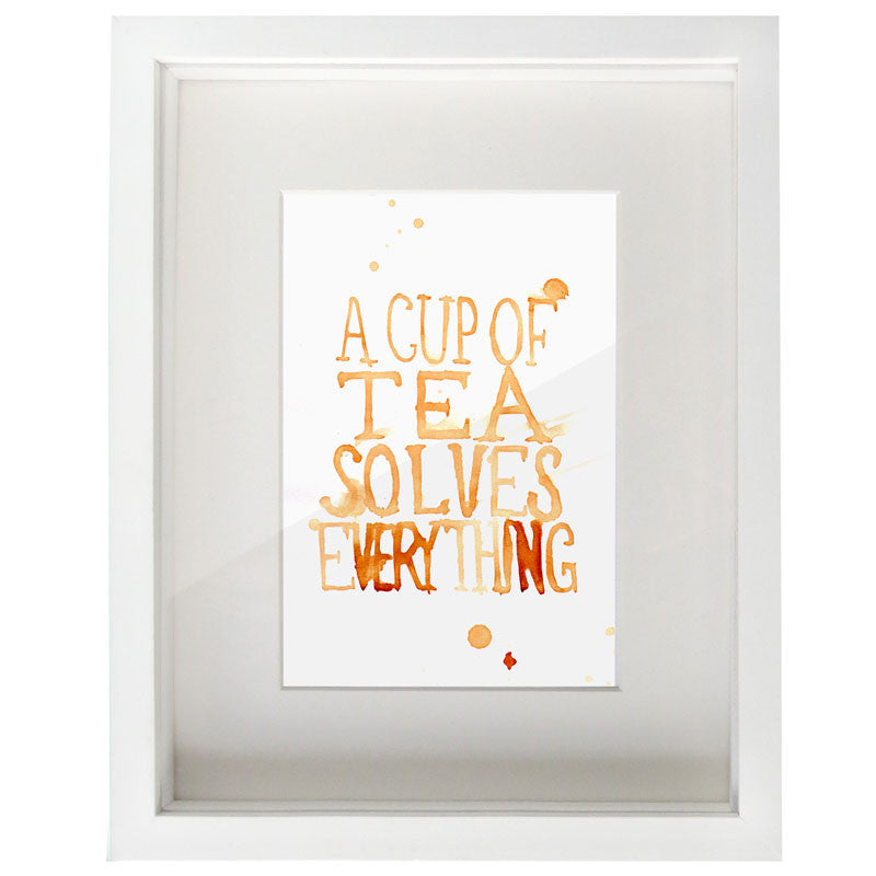 A Cup of Tea Solves Everything Digital Print