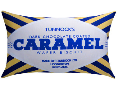 Dark Choc Tunnocks Teacake & Caramel Wafer Cushion Set