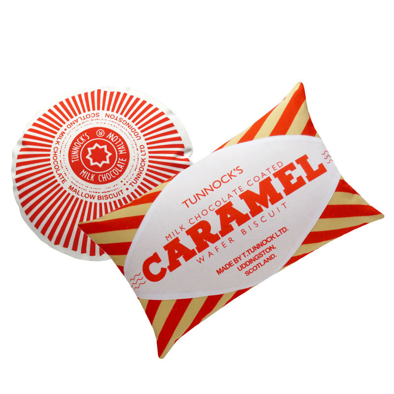 Original Tunnocks Teacake & Caramel Wafer Cushion Set