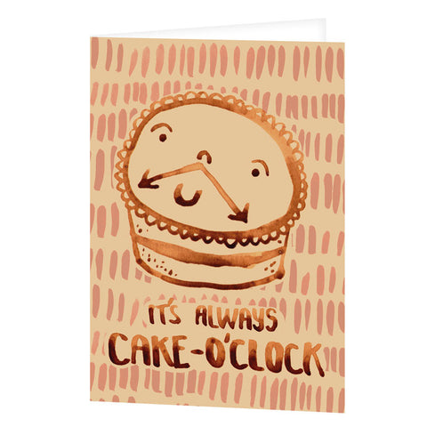 Cake O'Clock Greetings Card