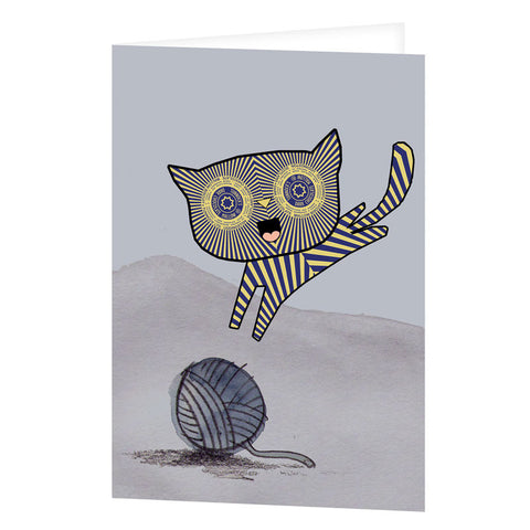Teacake Kitten Greetings Card