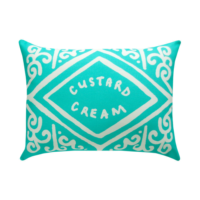 Mint Custard Cream Printed Cushion