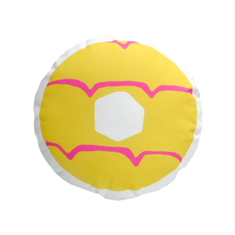Yellow Iced Ring Cushion