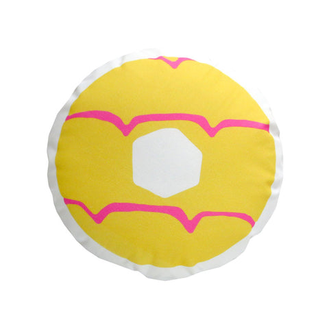 2015 Yellow Iced Ring Cushion