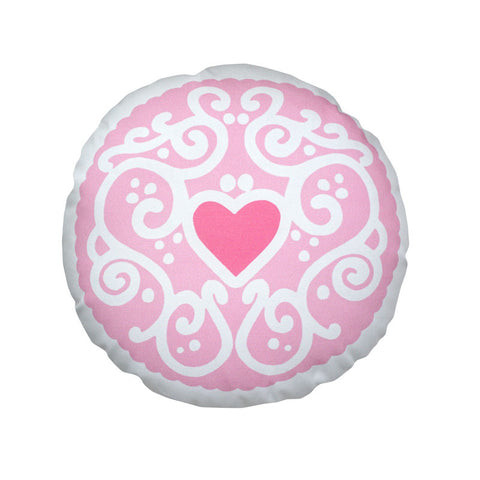 Candyfloss Jammy Heart Printed Cushion