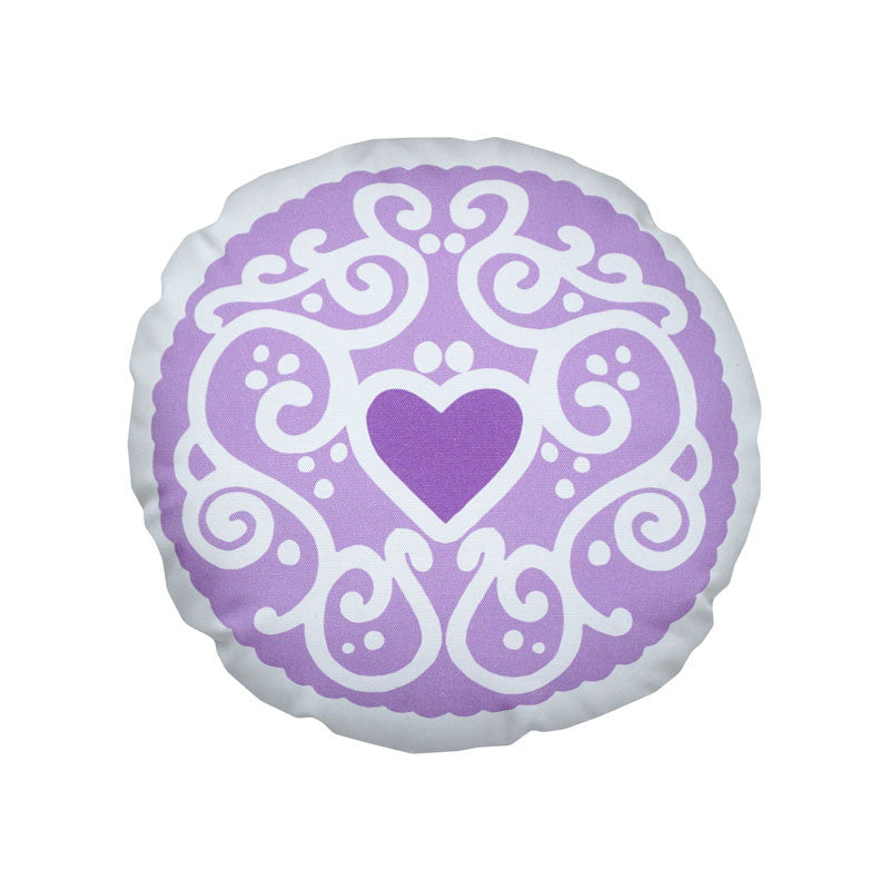 Parma Violet Purple Jammy Heart Printed Cushion