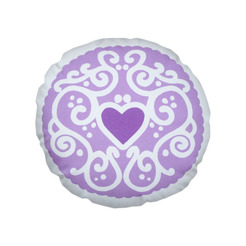 Parma Violet Jammy Heart Printed Cushion