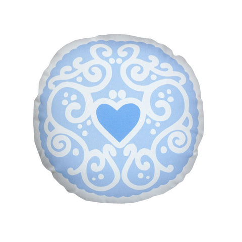Sky Blue Jammy Heart Printed Cushion