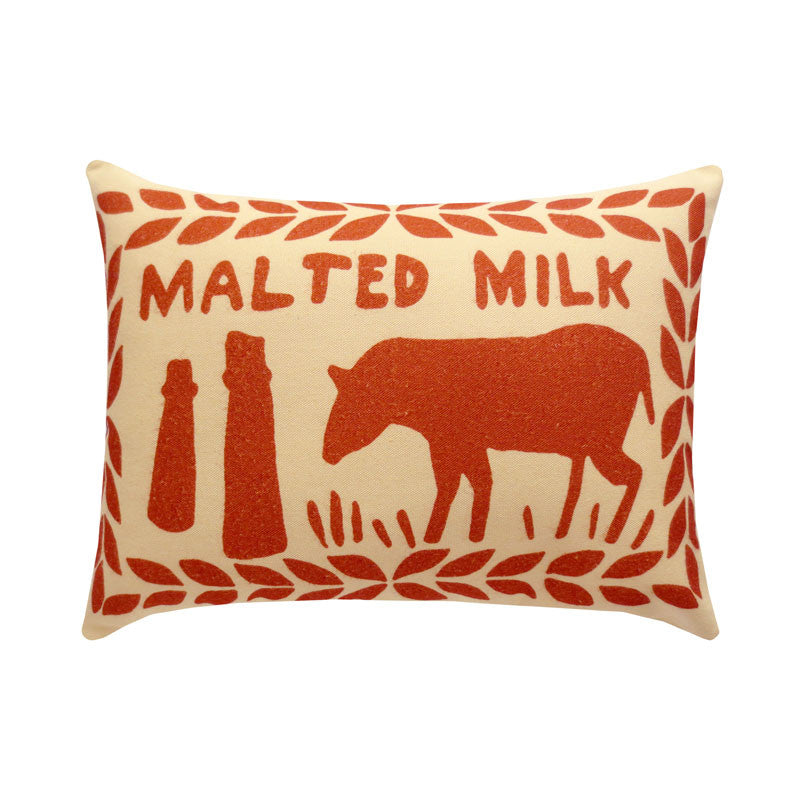 Chocolate Malted Milk Printed Cushion