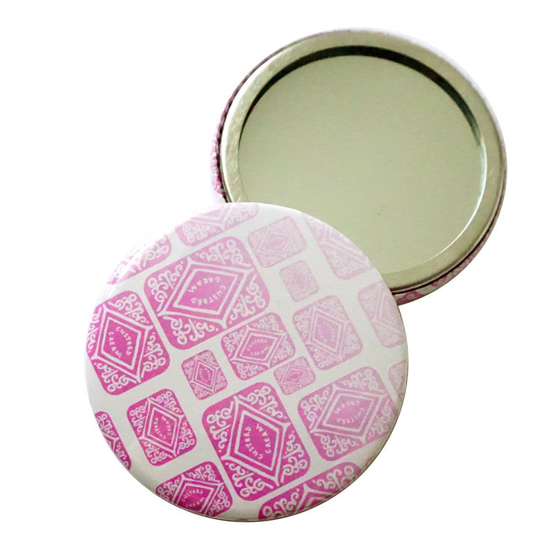 Pink Ombre Custard Cream Pocket Mirror