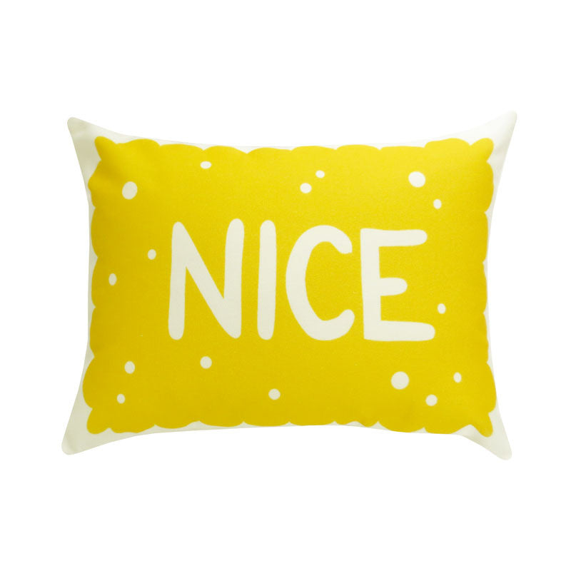 Nice Biscuit Printed Cushion
