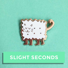 SALE - Biscuit Kitty Enamel Pin