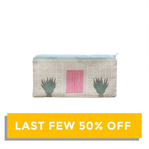 SALE - Finest Imaginary Collab - Pink Door House Printed Pouch