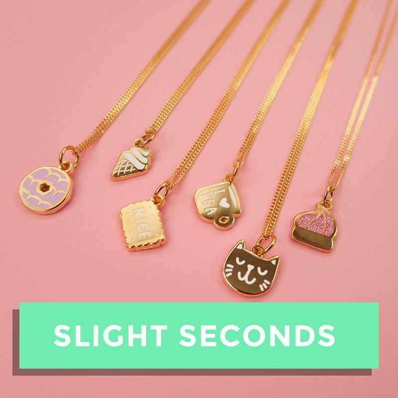 SALE - Biscuit Charm Necklaces