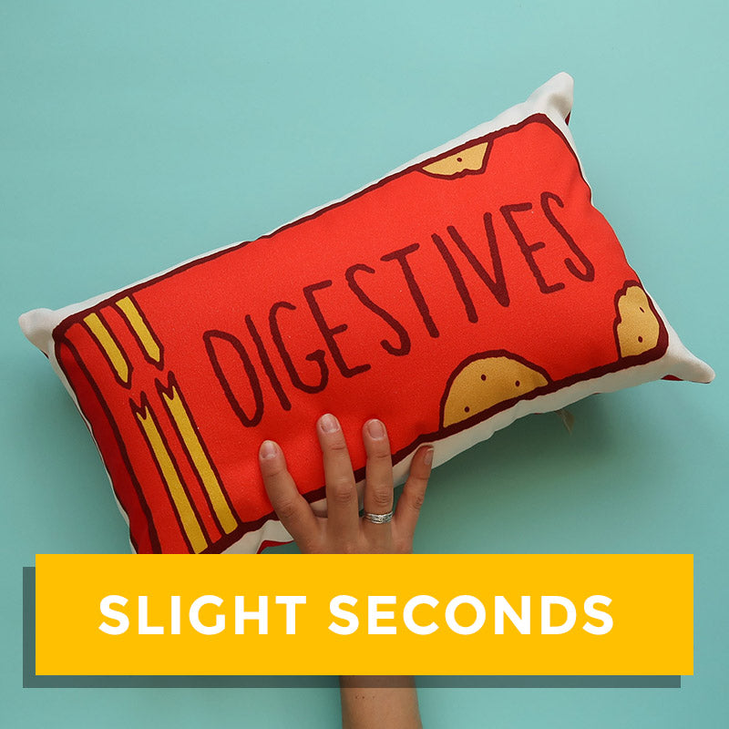 SALE - Packet of Digestive Biscuits Printed Cushion