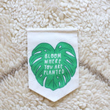 onr. shop Collab -  Bloom Where You Are Planted Printed Fabric Banner