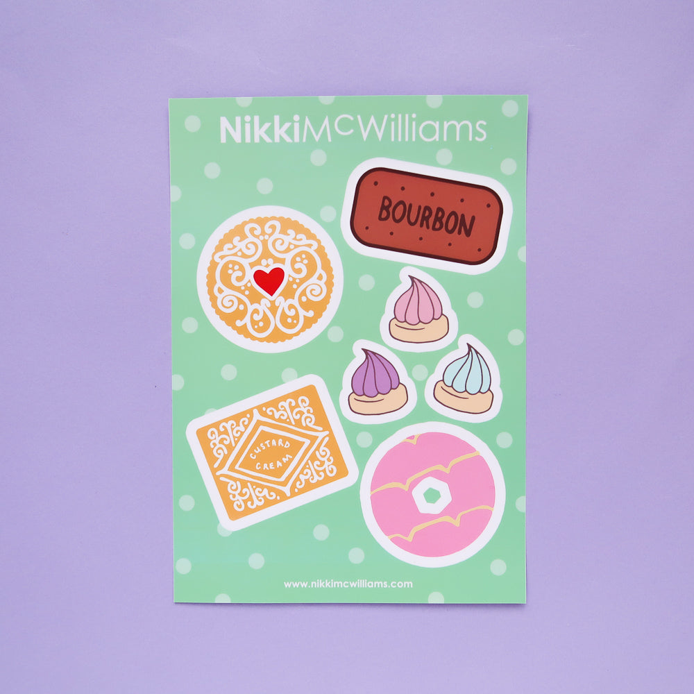 Biscuit Lover Vinyl Stickers Sheet