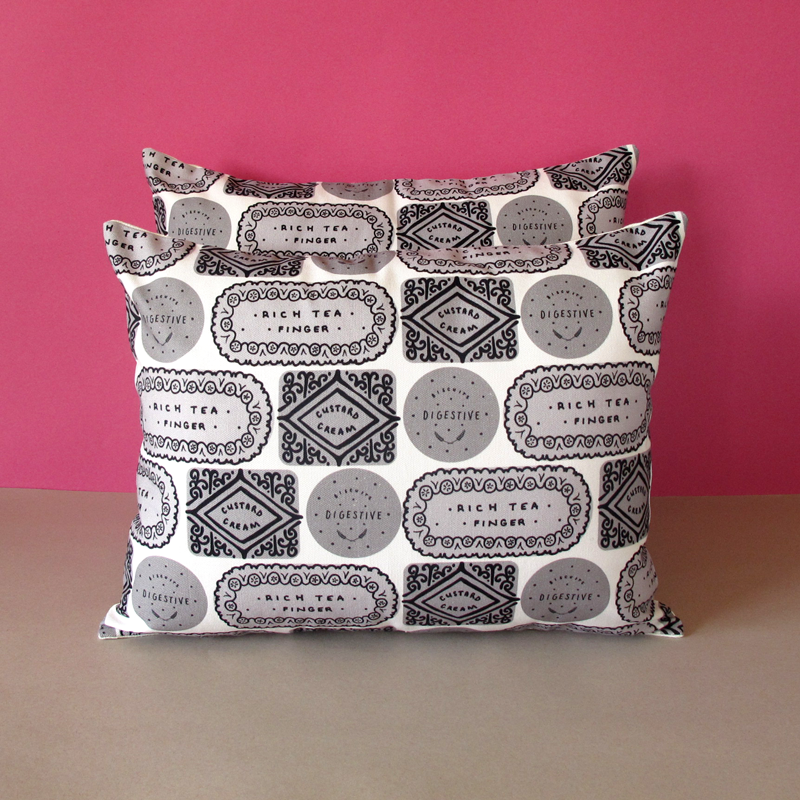 Biscuit Mix Printed Cushion - Monotone