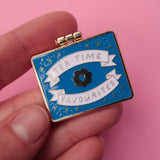 Teatime Favourites Surprise Inside - Gold & Blue - Enamel Pin