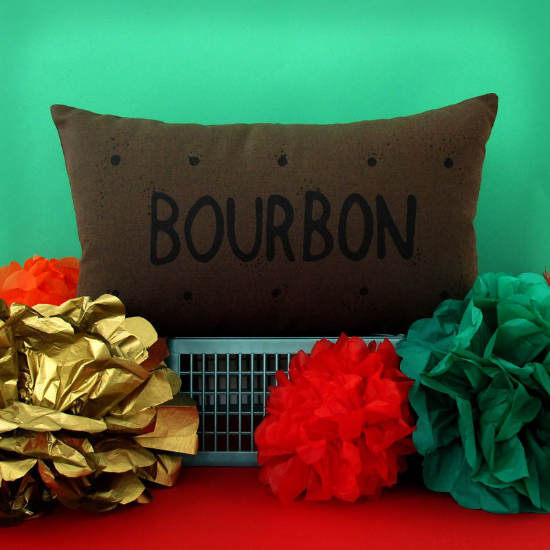Bourbon Biscuit Cushion by Nikki McWilliams