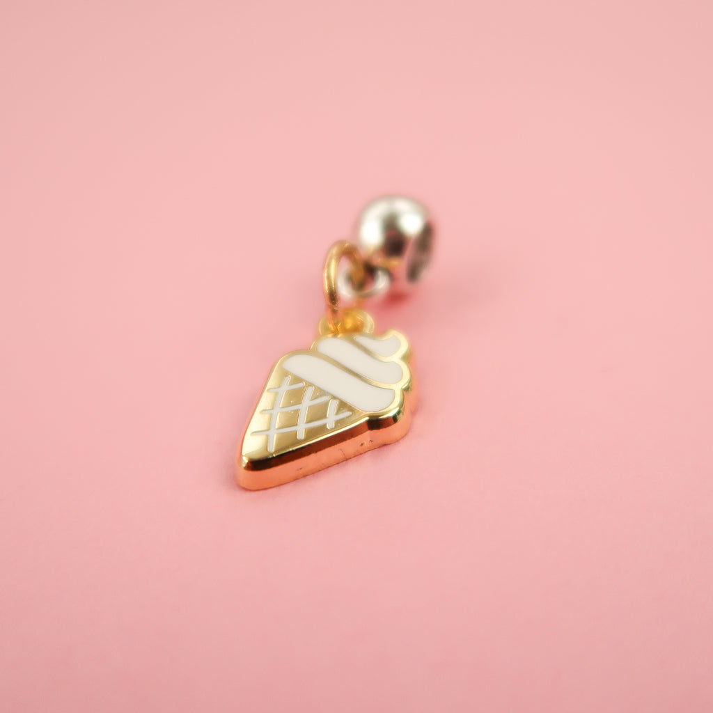 Gold Ice Cream Charm