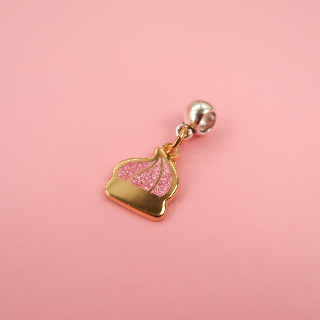 Gold Iced Gem Charm