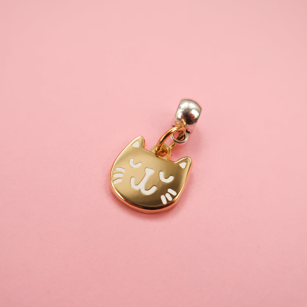 Gold Kitty Charm by Nikki McWilliams