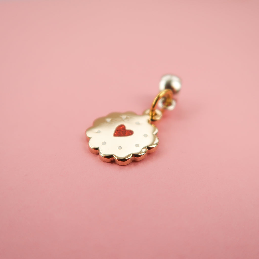 Gold Jammy Heart Charm