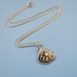 I love tea tiny silver charm necklace by Nikki McWilliams