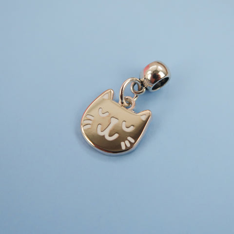Silver Kitty Charm