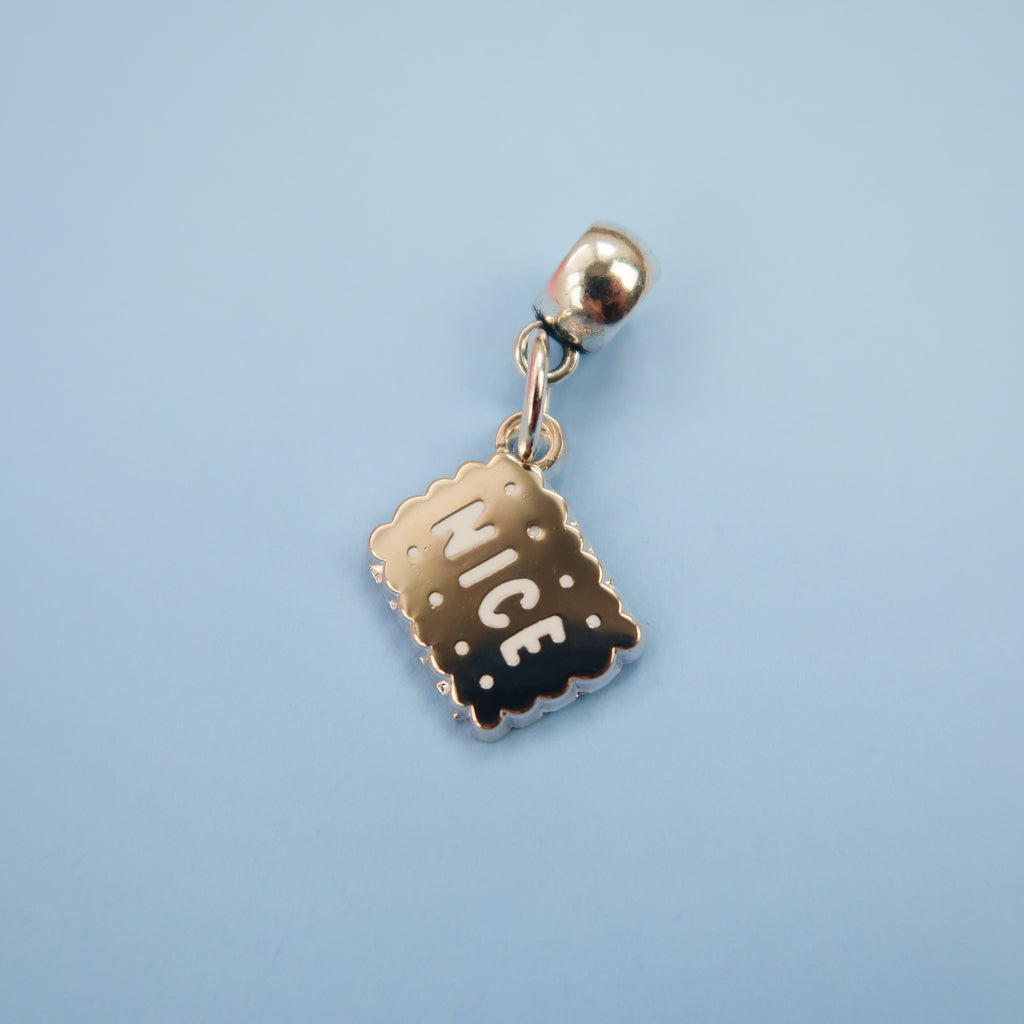 Silver Nice Biscuit Charm