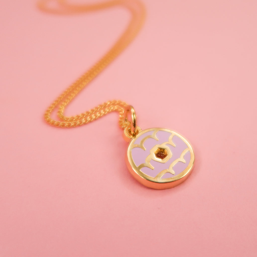 Itty Bitty Gold Iced Ring Necklace