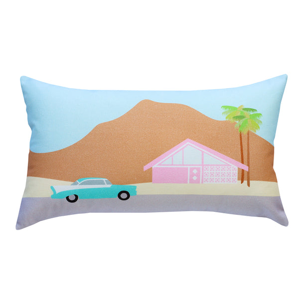 Finest Imaginary Collab - Palm Springs Desert Scene Printed Cushion