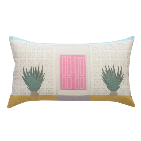 Finest Imaginary Collab - Pink Door House Printed Cushion