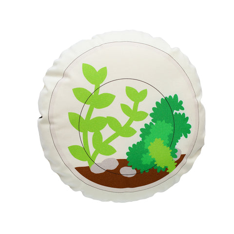 Finest Imaginary Collab - Round Terrarium Printed Cushion