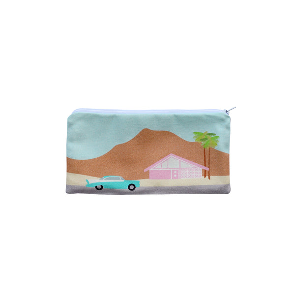 Finest Imaginary Collab - Palm Springs Desert Scene Printed Pouch