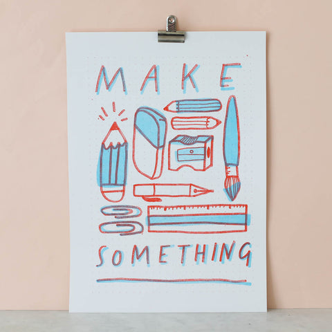 Make Something Stationery Riso Print by Nikki McWilliams