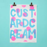 Custard Cream Dotty Risograph Print