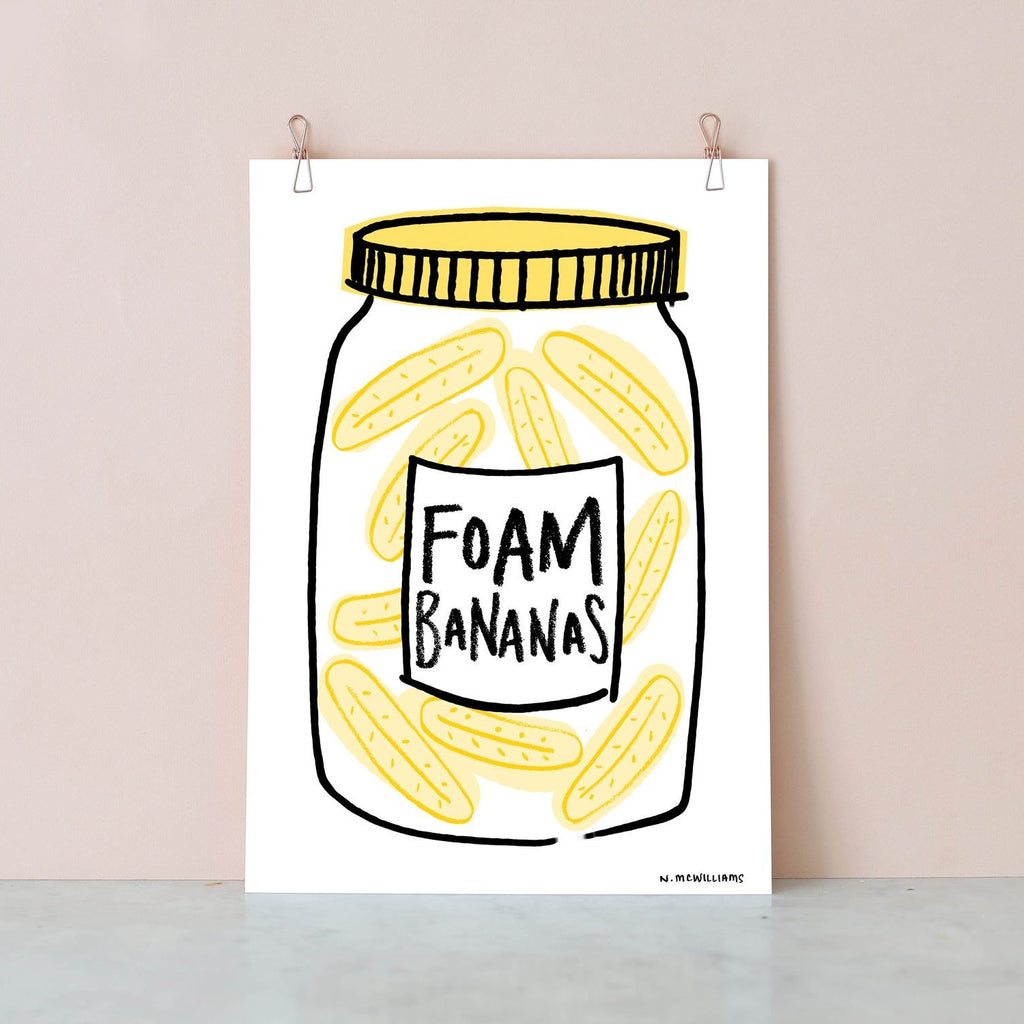 Sweetie Jar Digital Print - Foam Bananas