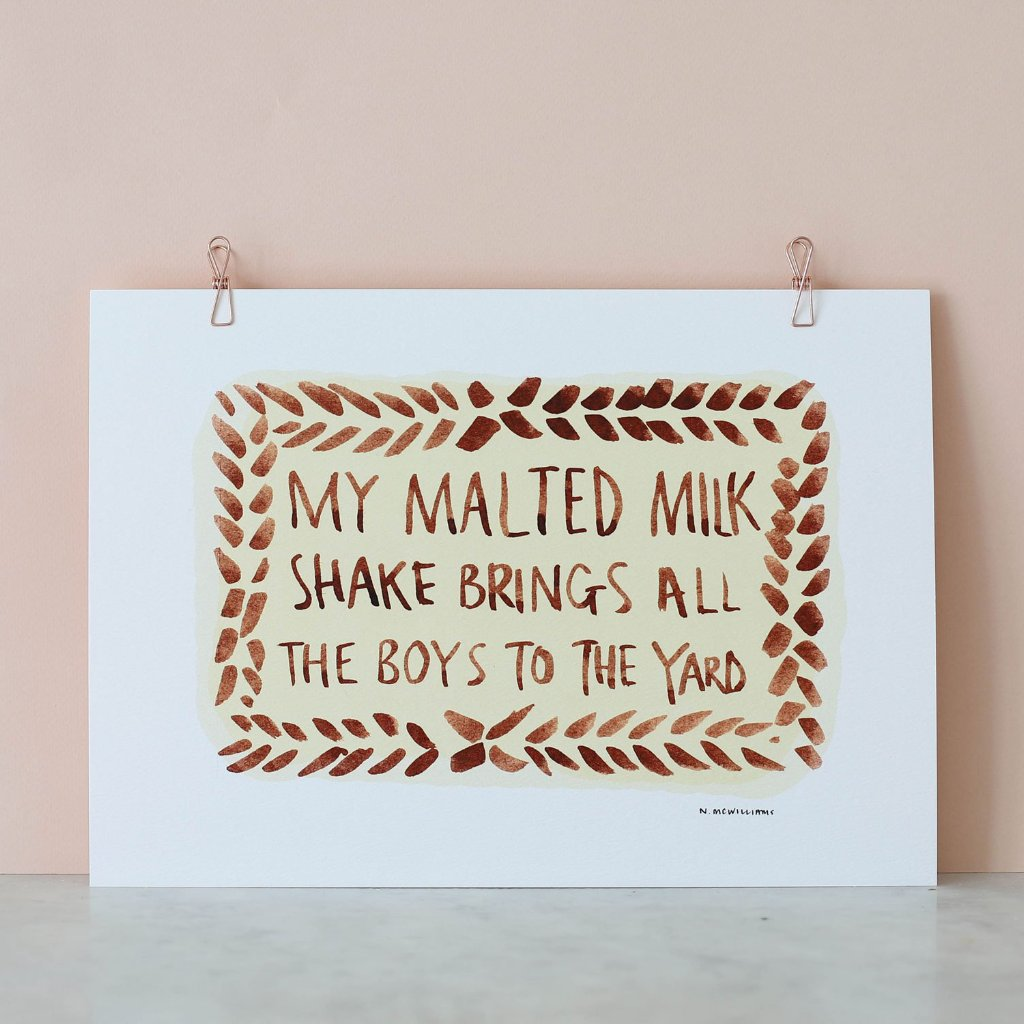 Nikki McWilliams Malted Milk Shake Print