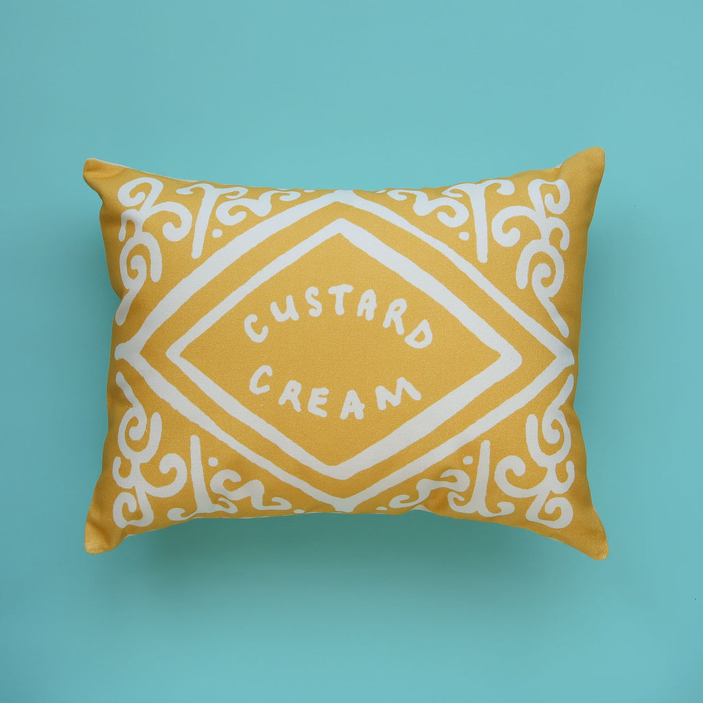 Inverse Custard Cream Printed Cushion