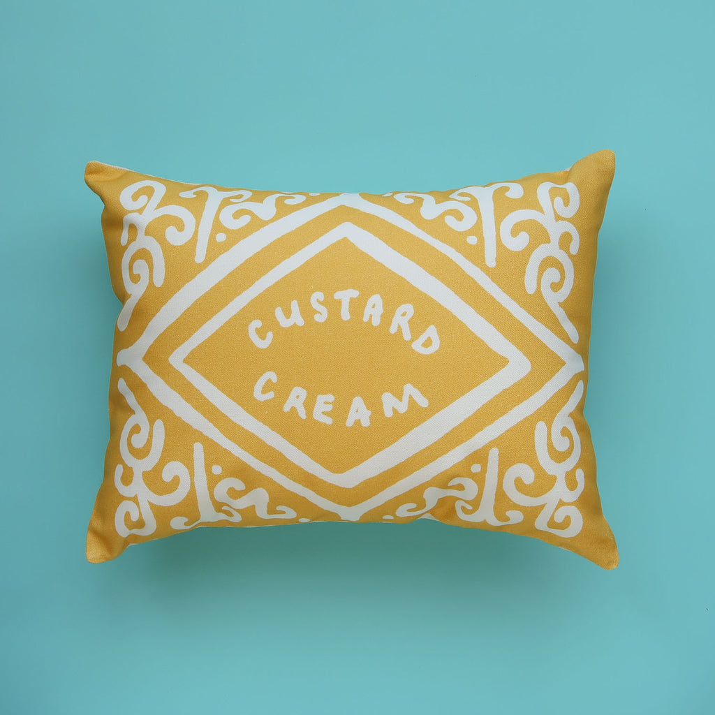 SALE - Inverse Custard Cream Printed Cushion