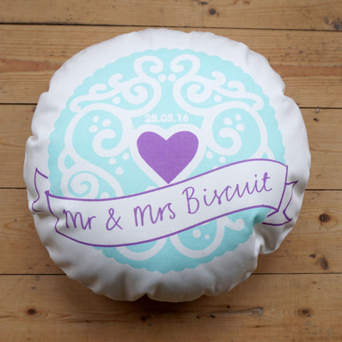 Bespoke Celebration Biscuit Cushion -  Custom Jammy Heart