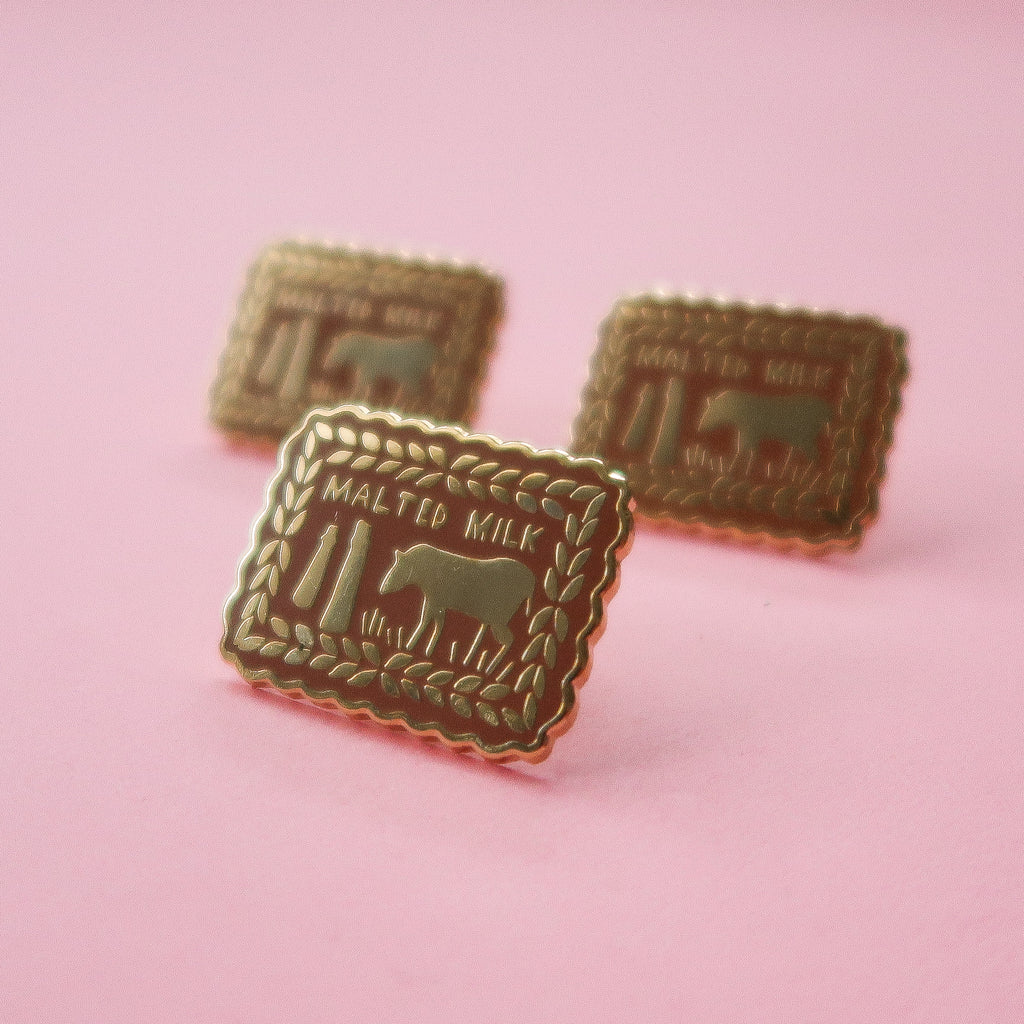 Malted Milk Biscuit Enamel Pin